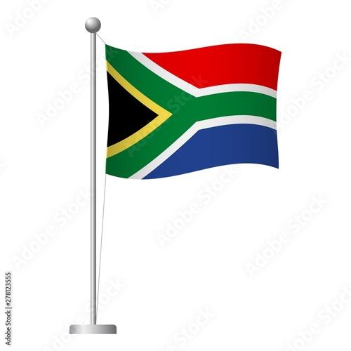 Obraz na płótnie South Africa flag on pole icon