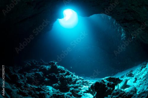 Valokuva  Underwater cave in Miyakojima Island