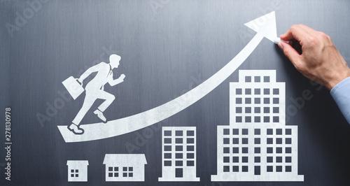 Papel de parede Business growth and career development plan