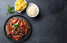 Peruvian Dish Lomo Saltado - B...