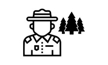 Forest Ranger Vector Icon