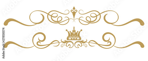 Obraz Design elements on white background, ornament royal style, antiques, vintage, vector illustration - fototapety do salonu