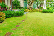Pathways With Green Lawns, Lan...