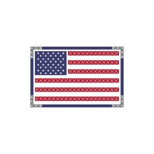 American Flag With Wood And Silver Looks