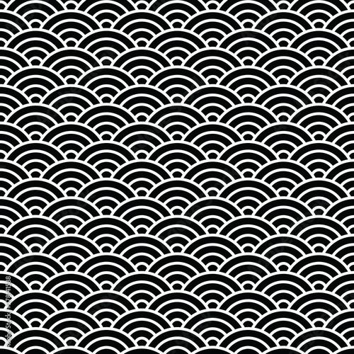antyczny-japonczyka-wzor-wodnej-fala-okregu-styl-rybia-skala-bezszwowy-deseniowy-tlo