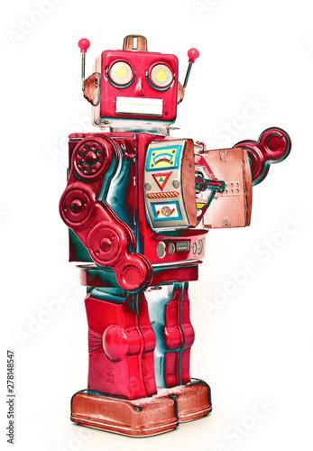 metalic robobot toy standing