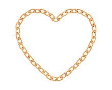 Realistic Golden Chain Texture...
