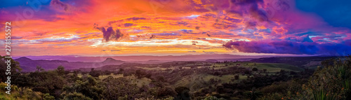 Photo sur Toile Marron chocolat Sunset in Santa Rosa in Costa Rica