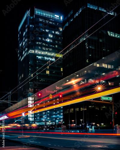 Fototapety, obrazy: Electric City Light Trails