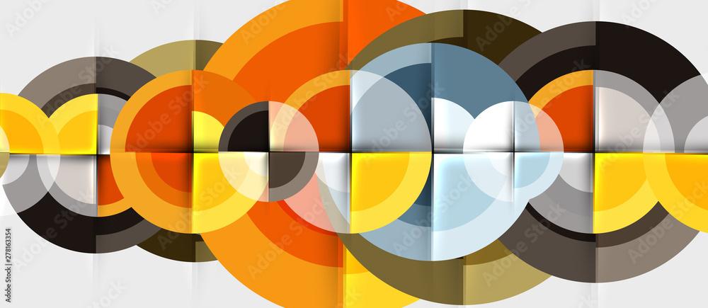 Fototapeta Circular geometrical design template