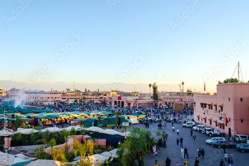 Poster Ecole de Danse Square Bazaar in Marrakesh. Morocco. Travels. Culture.