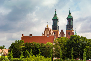 Historic Basilica Peter and Paul church in Poznan