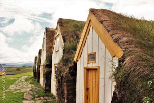 Torfhaus auf Island Canvas Print