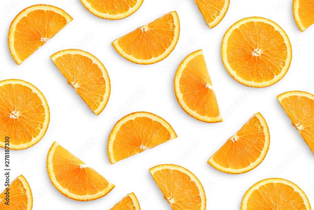 Fototapety, obrazy: Orange slices as pattern