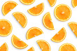 Orange slices as pattern