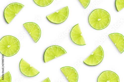 Canvas-taulu Lime slices as pattern