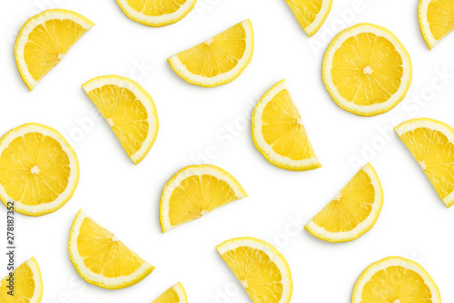 Vászonkép Lemon slices as pattern