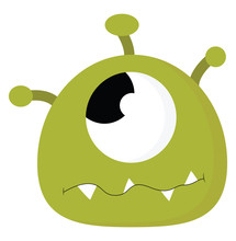 Green Monster With One Eye, Il...
