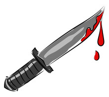 Bloody Knife, Illustration, Ve...