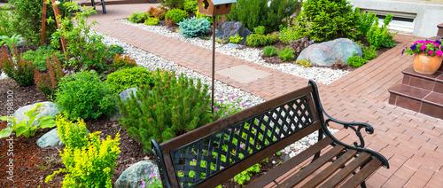 Fotografia Landscaping in home garden