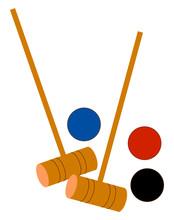 Croquet With Balls, Illustrati...