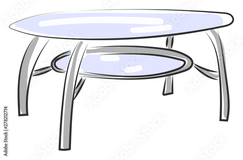 Glass Table Illustration Vector On White Background Buy This