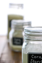Corn Starch In A Jar With Othe...