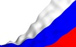 canvas print picture - Waving flag of the Russian Federation. The National. State symbol of the Russia. 3D illustration