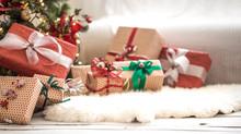 Pile Of Christmas Presents Ove...