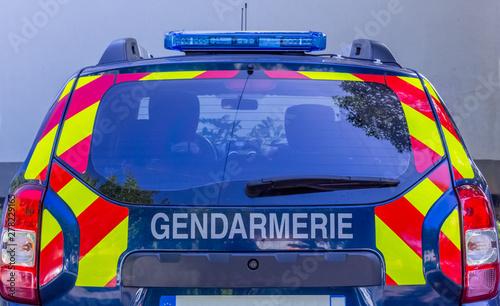 véhicule de gendarmerie Billede på lærred