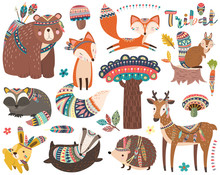 Woodland Tribal Animal Collections Set