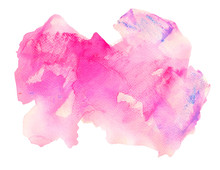 Rose Stain With Splashes And Drops Watercolor Texture Background
