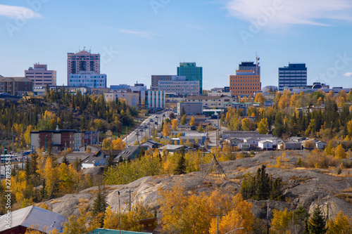Photo sur Aluminium Bleu ciel Beautiful City View in Yellowknife, Northwest Territories, Canada