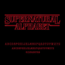 Supernatural Alphabet With Red...