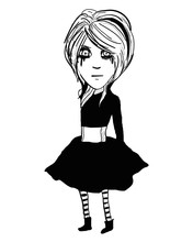 Vector Art Of An Emo Girl