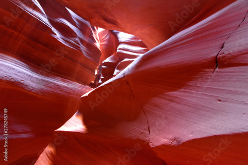 Fotografie, Obraz  Antelope slot canyon landscape in the noon