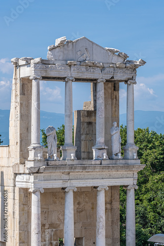 Valokuva  The ruins of the Roman theatre of Plovdiv, Bulgaria