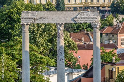 Fototapeta  The ruins of the Roman theatre of Plovdiv, Bulgaria