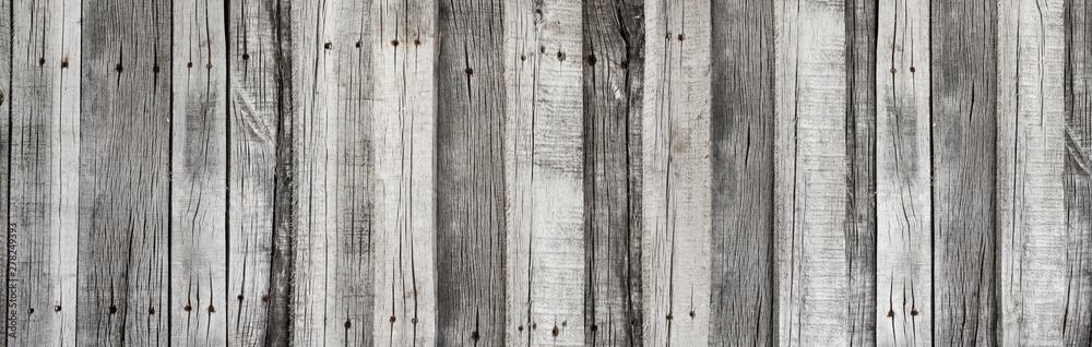 Fototapeta Wooden rustic grey planks texture vertical background