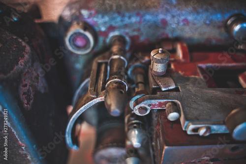 Old Rusty Car Engine Machine