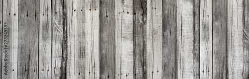 Fototapeta Wooden rustic grey planks texture vertical background obraz