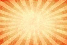 Orange Sunburst Grunge Background
