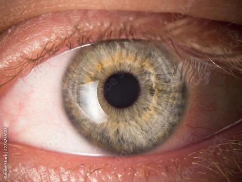 Fotobehang Macrofotografie Human eye close up