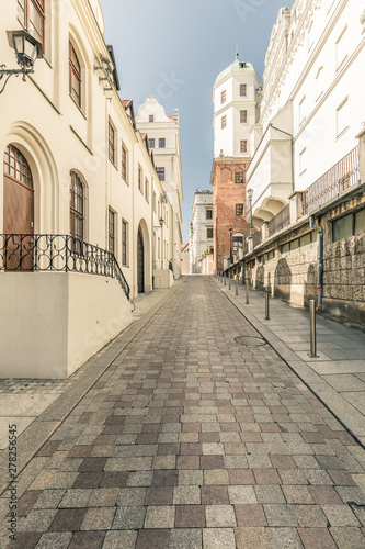 Obraz Szczecin. Historical architecture and street - fototapety do salonu