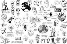 Many Hand Drawn Sketches Of To...