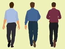 Business Men Walking Away