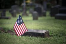 American Cemetery Graveyard Grave Stones