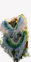 Extremely Colorful Motion Blurred Image Of Native American Powwow Dancers On White Background