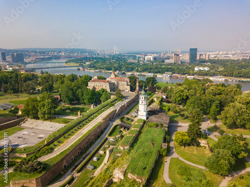 Fotografie, Tablou Aerial view to Kalemegdan fortress at Belgrade