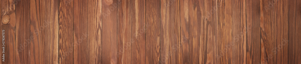 Fototapety, obrazy: Wooden texture with natural pattern wallpaper, background brown wood